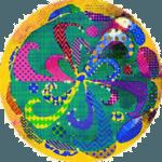 buntes, farbenfrohes Mandala