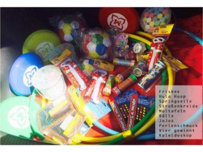Spielzeug für Flüchtlinge