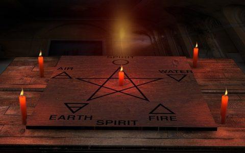 Anordnung der Elemente im Pentagram