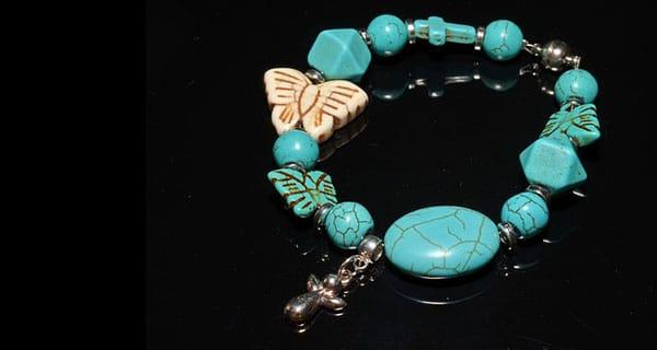 Türkis Stein Armband