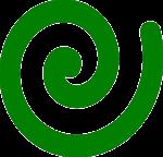Gegen den Uhrzeiger: Linksdrehende Spirale