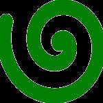 rechtsdrehende Spirale