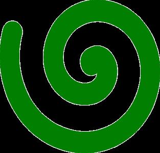 Im Uhrzeigersinn: Rechtsdrehende Spirale