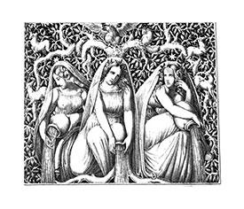 Die drei Nornen Yggdrasil