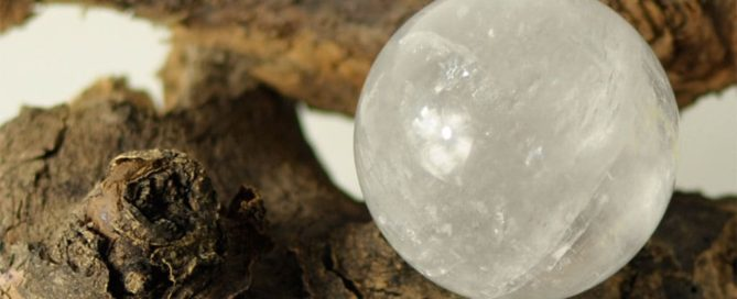 Heilstein Bergkristall kugel