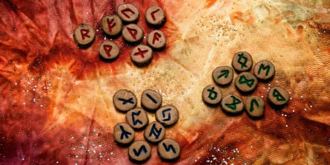 Das alte Futhark Runen Alphabet