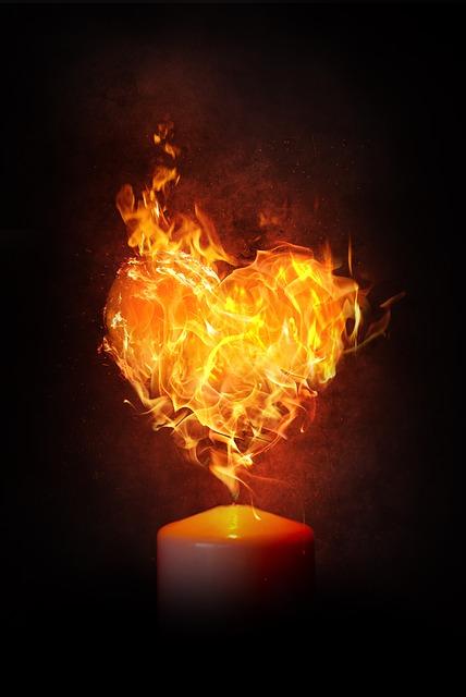 Feuer des Herzens