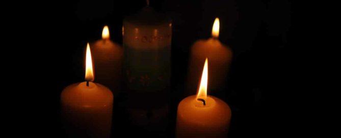 Vier Kerzen Wintersonnenwende