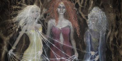 Die Norne Verdandi, Schwester von Urd und Skuld