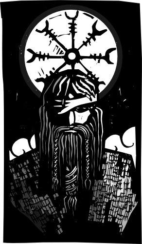 Frau Des Gottes Odin