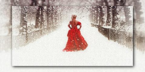 Frau auf der Brücke