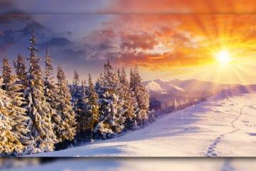 Winterlandschaft im Sonnenschein