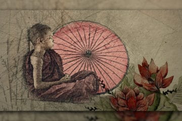 kleiner Junge meditiert