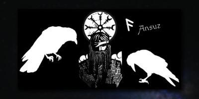 Rune Ansuz und Odin