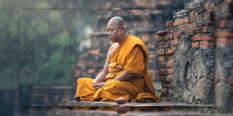 Mönch in Indien