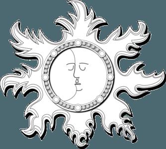 Neumond - Sonne küsst Mond