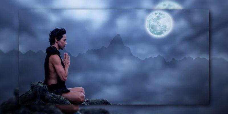 Meditierender zum Vollmond Oktober 2017