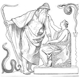 Frigg und Odin