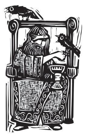 Odin, der einäugige Gott der Asen und Vater der Runen