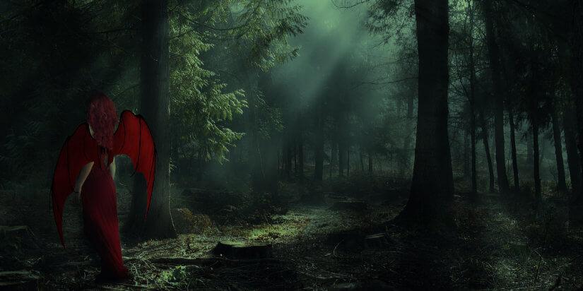 Neumond Wassermann Februar 2019 - Lillith im Wald