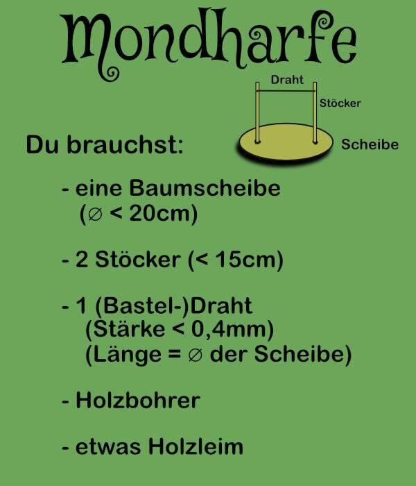 DIY Anleitung Mondharfe