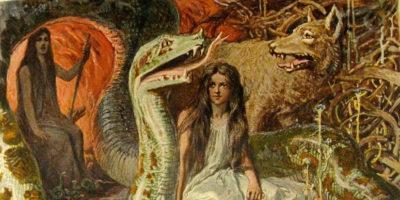 Göttin Hel, Mutter Angrboda, Geschwister Fenriswolf, Midgardschlange