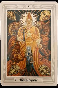 Aleister Crowley Tarot - der Hierophant