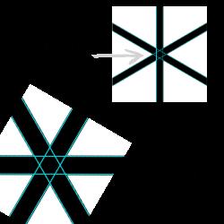 Hexagramm in der Doppelfurka