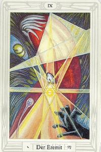 Der Eremit-Crowley-Tarot