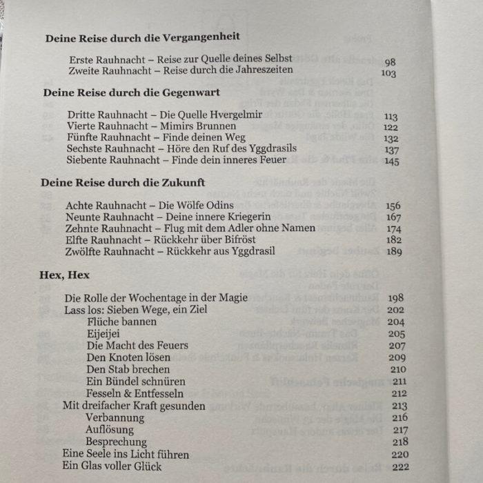 Der alte Pfad und die Rauhnächte - Inhaltsverzeichnis 2