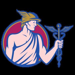 Gott Merkur mit Caduceus